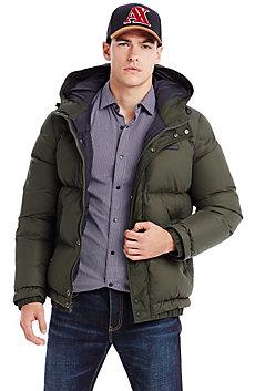 Mesh Puffer Coat