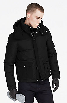 Pieced Short Down Parka