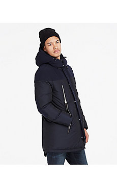 Pieced Long Down Parka