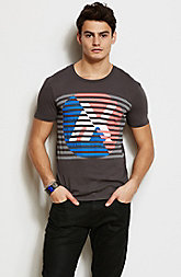 Pop Stripe Logo Tee