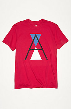 A|X Stacked Logo Tee