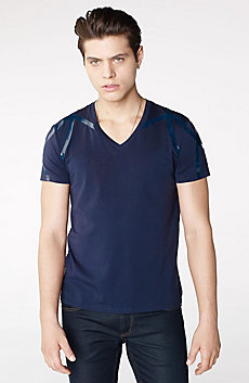 High-Shine Yoke V-Neck