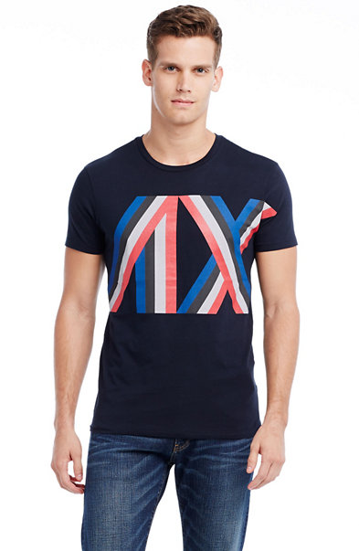 Racing Stripe Logo Tee