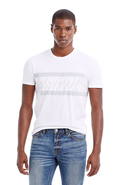 Cross Over Stripe Tee