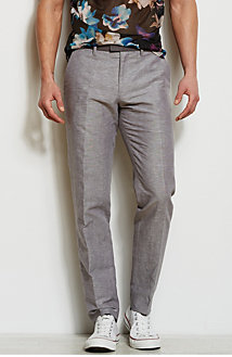 Contrast Detail Dress Pant