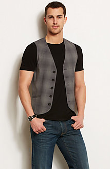 Plaid Vest<br>Online Exclusive