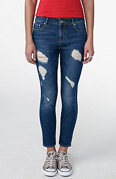 Deconstructed Crop Skinny Jean