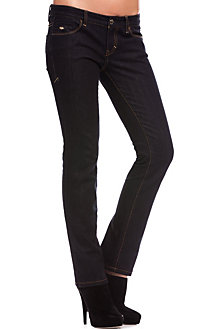 J57 - Back Plaque Straight Leg Jean