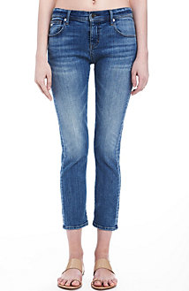 Medium Indigo Cropped Straight