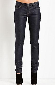J11 - Coated Indigo Skinny Jean