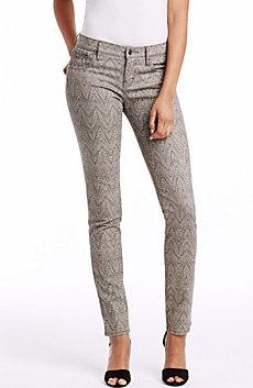 Chevron Print Skinny Jean