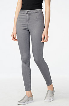 Grey Clean-Front Jegging