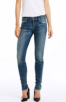 Vintage Indigo Wash Skinny Jean
