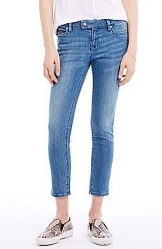 Medium Indigo Cropped Skinny Jean