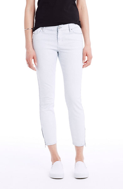 Coated Cropped Skinny Jean