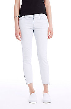 Coated Cropped Skinny Jean