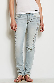 Lace Cut-Out Skinny Jean