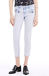Over-Dyed Cropped Skinny Jean