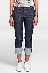 Cuffed Straight-Leg Jean