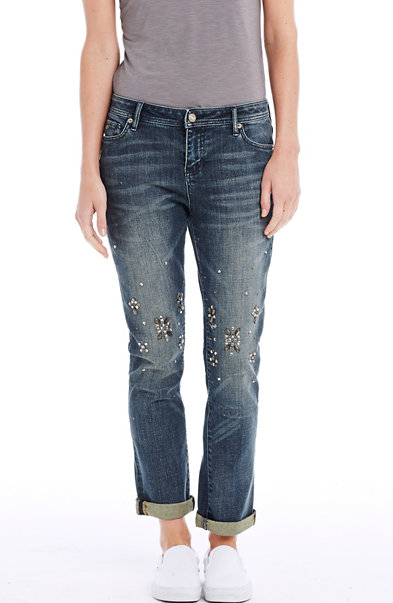 Embellished Straight Jean