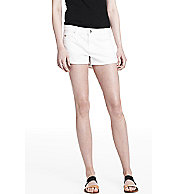 White Denim Shorty Shorts