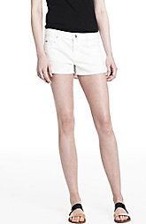 White Denim Shorty Shorts