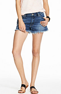 Indigo Denim Boyfriend Short