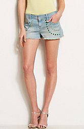 Jeweled Denim Short
