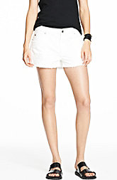 White Denim Boyfriend Short