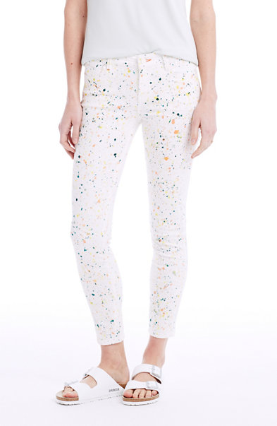 Paint Splatter Cropped Skinny