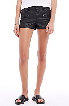 Coated Denim Short