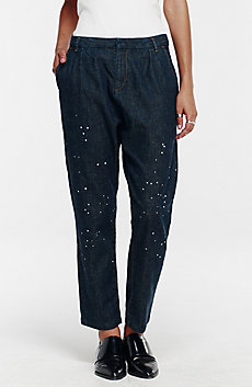 Splattered Boyfriend Jean