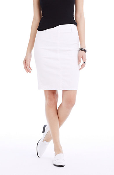 White Curator Pencil Skirt