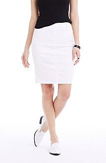 White Curator Pencil Skirt