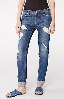 Destructed Straight-Leg Jean