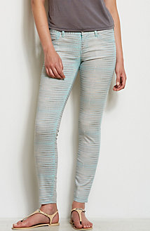 Graphic Snake Print Legging Jean