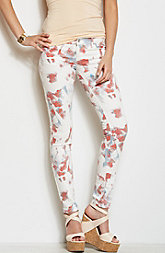 J22 - Printed Cropped Legging Jean