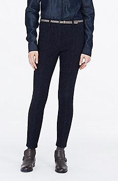 Pintuck Skinny Jean