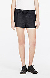 Linen Blend Chambray Short