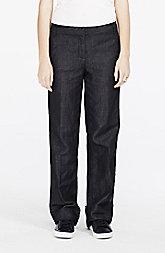 Linen Blend Chambray Trouser