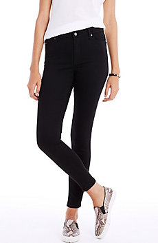 Black High-Rise Super Skinny Jean