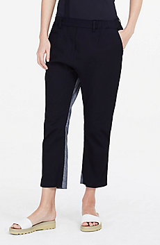 Contrasting Pieced Pant