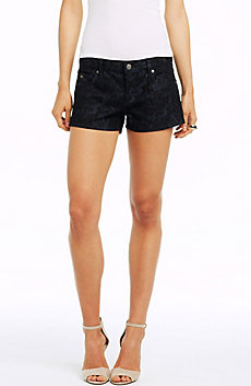 Damask Print Shorty Short