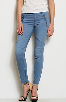 Super Skinny Zippered Moto Jean