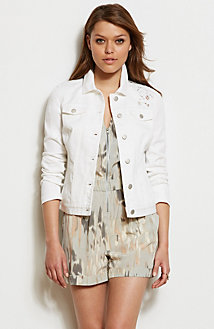 Lace Cut-Out Trucker Jacket