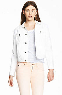 White Denim Trucker Jacket