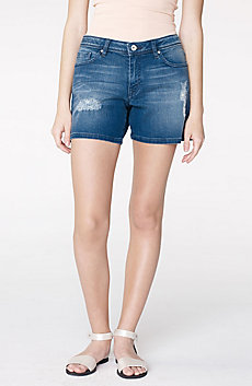 Destroyed Dark-Wash Short
