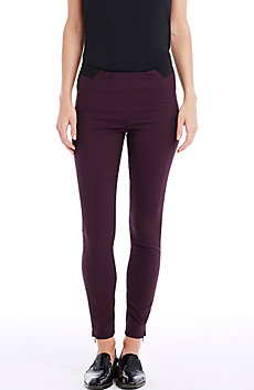 Cotton Seamed Skinny Pant