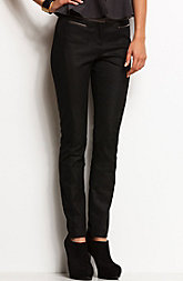 Faux Leather Accent Pant