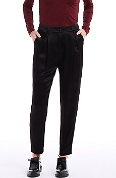Satin Pleat Trouser